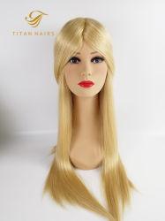 La moda piel delgada Remy Virgen peluca de pelo humano para mujer