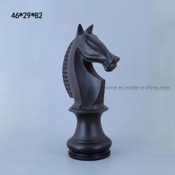 優雅な特大マット黒いPolyresinは彫像の樹脂の装飾を起草する
