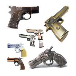 Ювелирные изделия металлические пистолет форму USB флэш-диск 8 ГБ, 16 ГБ