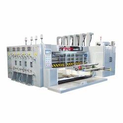 Velocidad media cuatro colores borde principal máquina de impresión troquelado de asignación de fechas