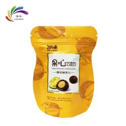 Support personnalisé jusqu'pochette à fermeture à glissière en plastique de l'emballage alimentaire produit Sac de papier