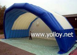 Garage stade gonflable mobile couvrir