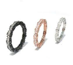 2015 New Fashion Hot sale 925 Sterling Silver White Gold Coppia di anelli di gemstone per la placcatura (R10265)