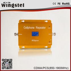 El oro equipos CDMA/amplificador de señal de doble banda/850/1900MHz repetidor de señal de inicio/repetidor de la señal del WT