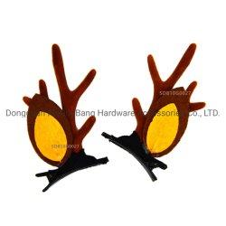 シカ枝角および耳の方法ヘアークリップのファッション小物
