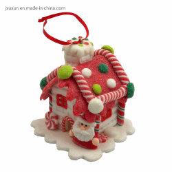 Decoración de Navidad casa modelo colgar en árbol de Navidad