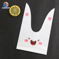 De in het groot Zak van de T-shirt van het Ontwerp van de Vorm van het Konijn Nieuwe Plastic Meeneem voor Jonge geitjes Verjaardag Kerstmis