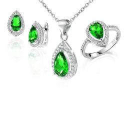 925の銀製の宝石類の一定のリングおよびペンダントの宝石類