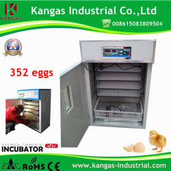 Exploração 352 ovos utilizados incubadora de ovos digital automática Hatcher para venda