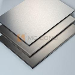 A2 B1 en acier inoxydable résistant au feu de Cuivre Zinc panneau composite aluminium pour mur rideau métallique