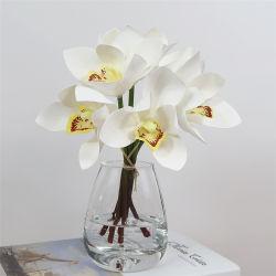 Disposizioni reali artificiali del mazzo del fiore di tocco delle orchidee del Cymbidium stampate 3D del lattice