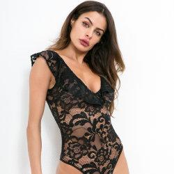 Corset sexy sexy des femmes d'élasticité sous-vêtements dentelle Transparent Mesh Corset Haut de la Lingerie taille Slim Bustier Corselet push up