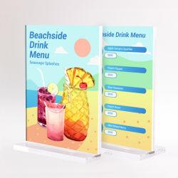 Cornice fotografica in acrilico trasparente con supporto per decorazione domestica Cartello da tavolo in acrilico per esposizione di Meun