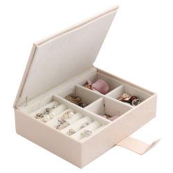 Поездки украшения для женщин, портативный органайзер дисплей чехол для хранения с помощью пружинного стопорного закрытия для Earring браслет кольцо цепочка Esg12597