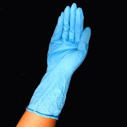 فحص النتريل النقي التخلص من القفازات الطبية صندوق من 100 طبي مسحوق وحيد الاستعمال شهادة CE زرقاء خالية من المعادن En455