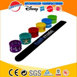 Oferta promocional para pulso elástico de borracha coloridas logotipo personalizado pulseiras banda bofetada bracelete de Silicone
