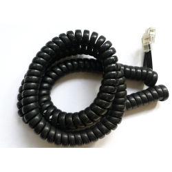 Collegare della bobina del telefono del cavo del cavo telefonico nel colore nero