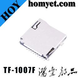 Micro connettore di scheda di TF dello zoccolo della scheda del T-Flash di deviazione standard di vendite calde per il Mobile (HY-TF1007F)