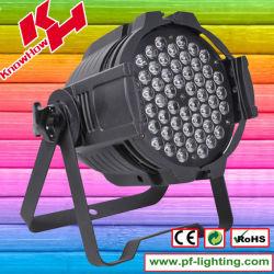 54PCS بقوة 3 واط، مصباح LED، تكافؤ 64 واط، بتقنية RGBW