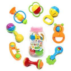 مغذّ [بوتل] يحزم 8 [بكس] بلاستيك جدي لعبة محدّد طفلة جلجلة (10214092)