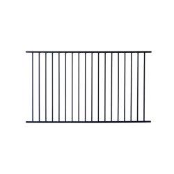 Gegalvaniseerd Staal Flat Top Steel Fence Panel 6 Voet Hoog X 8 Voet Breed