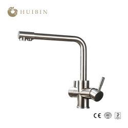 Risparmiatore di energia dell'annata che Plumbing il doppio rubinetto del miscelatore del colpetto del dispersore di cucina della maniglia