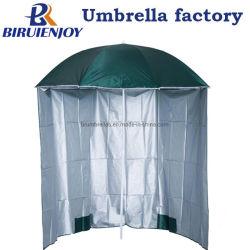 Custom 220см УФ серебряным покрытием зеленый промысел пикник на пляже зонтик с боковых панелей