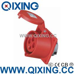 Tipo de montaje en panel económico recta toma por la norma IEC (QX-1399)