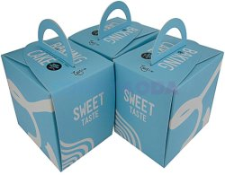 Роскошный торт упаковка специализированное персонализированный суммарная воздушная керма Treatbox Cupcake окно с прозрачной крышкой и вставьте пачку подарочная упаковка бумажных упаковочных материалов