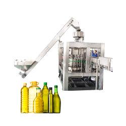 Automatic 0,5 L-5L Frasco de vidrio y PET vegetal de girasol oliva comestible Aceite de Cocina Equipos de llenado de embotellado de la línea de producción de máquinas de Embalaje Embalaje