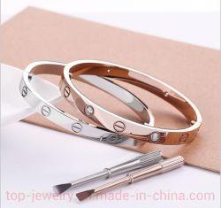Titanstahlgoldarmband des paare Iove Armband-18K Rose
