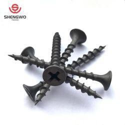 Bugle cabeza negra o gris fosfatados tornillos Drywall
