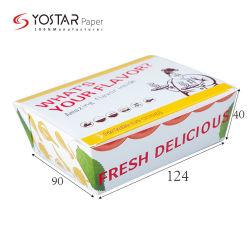 Одноразовые белые картонные упаковки продуктов питания складные обед Fast Food бумаги .