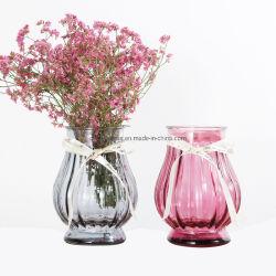 꽃 삽입의 예술을%s 최신 판매 15.8cm 손전등 모양 넓은 입 유리제 화병