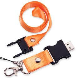 شريط الرقبة الترويجي محرك أقراص USB محمول مخصص لتعليق منفذ USB