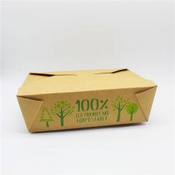 69oz No3 PLA Compostable Kraft Food-Kartons