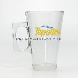 Couper le verre isolé des tasses à café définie pour le café en verre de gros