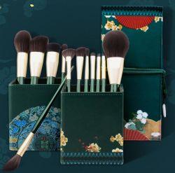 OEM 12PCS de Natuurlijke Borstels van de Make-up van het Haar van de Geit van het Dierlijke Haar Geplaatst Fabriek