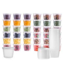 Commerce de gros de micro-ondes imprimé personnalisé personnalisée en plastique jetables Deli conteneurs en plastique avec couvercle