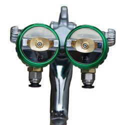 Nano Silver Chrome miroir de la pulvérisation de peinture à double tête de buse double Pistolet de pulvérisation