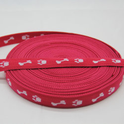 Custom Pet Polyester / PP-Webbing, Red Strap und Jacquard-Band