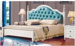 Européens français plus tard de gros de meubles de style ancien en bois de lit King Size