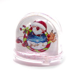 O Natal Santa Cláusula cintilante bola bricolage plástica de água Foto Acrílico Inserir Globo de Água