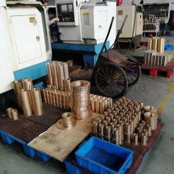 Cusn5zn5pb5 /Cuzn25al5 Bronzeselbstschmierung-Ebenen-aufgeteilte Abnützung-Kupferlegierung-Messingbronzehülsen-schiebende Peilung-Bush-Aluminiumbronzen-Buchse mit Ölrinne