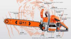 가솔린 사슬은 국제적인 판매를 위해 Jh9800 예리한 나무 절단기를 보았다
