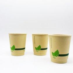 PLA biodégradable enduits 8oz sortir les tasses de café chaud