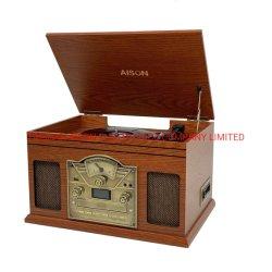 Venda a quente da mesa giratória de Madeira Classic Suportes com MP3 USB