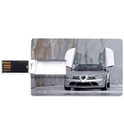 1 giga2 GB 4 G Flip Card Shape USB Flash Drive Met gratis logo