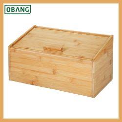Natural Bamboo Bread Box Kitchen Bread Bin