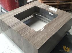 表または流しまたは食器棚または浴室の虚栄心の上のためのコーヒー木製の石造りの大理石のカウンタートップ